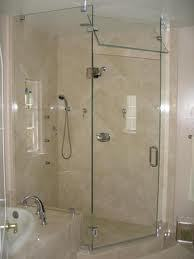 Frameless Shower Enclosure w/ Transom